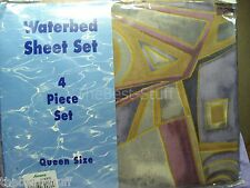 Vintage NEW in package QUEEN WATER BED SHEET 4 piece set. Made in USA   SEALED!