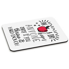 An Apple A Day Keeps Anyone Away PC Computer Mouse Mat Pad - Funny Joke