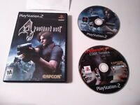 Resident Evil 4 + Code Veronica X PlayStation 2 PS2 RE4 Zombie Video Game Lot
