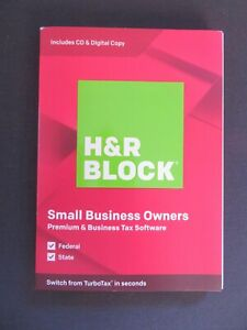 2019 H&R Block Small Business Owners Federal State FAST AUTHENTIC DOWNLOAD ONLY