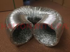 """4""""(100mm) *10M Aluminum Foil Duct New /Telescopic Tube Exhaust Pipe Double-Sided"""