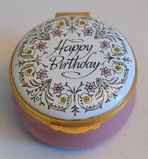 Halcyon Days English Enamels Happy Birthday Trinket Box