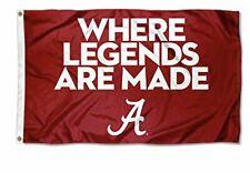 University of Alabama Crimson Tide Where Legends are Made Banner Flag 3 x 5 ft.