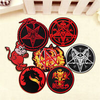 DIY Fire Dragon Star Embroidery Sew On Iron on Patch Badge Fabric Applique Craft