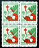 US, 1930 Christmas Seal Block, Red Buttons, Printer S, 30-2.1 Green's, MNH
