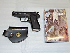 Walther PPK Gun Shape Jet Torch Lighter With Spring Knife Clip USA Stocked