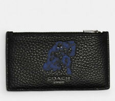 Coach Marvel Black Panther Zip Card Case Signature Canvas & Leather Brand New!
