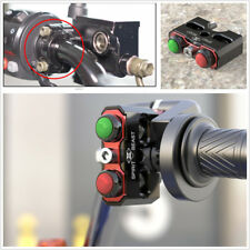 Motorcycle Handle Mount Double Switch Reset Self-Locking Switch Aluminum Alloy