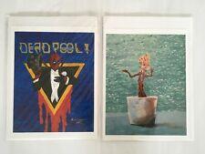 "Lot of 2 Mark Edward Decker Art Print 11"" x 8.5"""