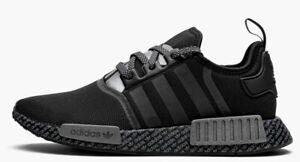 12 New adidas Originals NMD R1 FV6989 Print Boost Black Mens Shoes