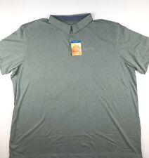 Columbia Mens 4X Light Green Thistletown Ridge Omni Shade Wick Polo Shirt NWT