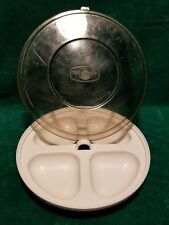 Nordic Ware Microwave Divided Dish Bowl Plate w   Lid   Divided in 4