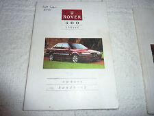 ROVER 400 SERIES OWNERS HANDBOOK c1994