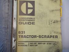 CATERPILLAR CAT 631  SCRAPER TRACTOR SERVICE MANUAL REG00403