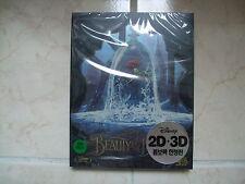 Beauty And The Beast (2017, Blu-ray) 2D & 3D Combo Steelbook w/ PET Slip Case