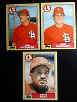 1987 Topps Traded St. Louis Cardinals Team Set of 3 Baseball Cards