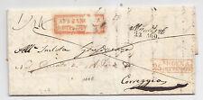 J483-REGNO LOMBARDO-VENETO DA MANTOVA A CORREGGIO 22 AGOSTO 1843