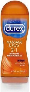 Durex Massage and Play Stimulating Intimate Lubricant w/ Guarana 6.76 ounce