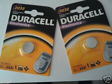 """TWO"" Duracell CR2032 Replacement Battery (For Petzl E-Lite & Suunto Core)"
