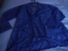 BNWT WOMENS CLOTHING SIZE 14/16 MICHELLE HOPE PURPLE PRETTY LACY CARDIGAN/TOP
