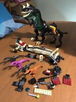 LEGO T REX GREEN DINOSAUR #7476  DINO ATTACK  EYES LIGHT UP Small One And Pieces