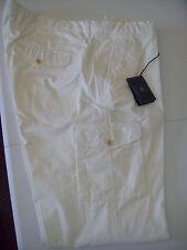 Kent & Curwen 100% Cotton Hamilton Cargo Chino Pants NWT 38 x 34 $225 Ivory