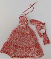 Vintage Barbie Genuine Fashion 1978 Summer Romance Red Heart #2785 Mattel Dress