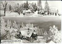 Ansichtskarte Bärenburg - Ortsteil Oberbärenburg - Winter/Schnee - schwarz/weiß