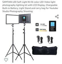 SAMTIAN LED Soft Light Kit Bi-color LED Video light photography lighting kit...