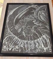 Godmachine Alien Predator Print Gutted GID Variant Bottleneck not mondo Poster