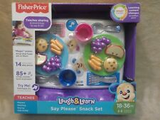 Fisher-Price Laugh And Learn Say Please Snack Set BRAND NEW