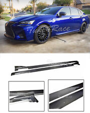 For 13-Up Lexus GS Lexon Style Carbon Fiber Rocker Panels Side Skirts Splitter
