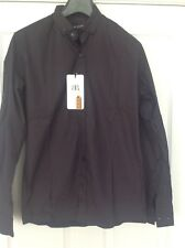 MENS SMART CASUAL SHIRT DARK GREY/BLACK PATTERNED  RE-ROCK SIZE MEDIUM BNWT
