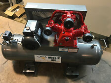 Air Compressor Australian Made 100L 17 CFM Cast Iron Pump 240V Single Phase 3HP