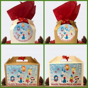 Personalised Christmas Gift Box Princess Xmas Small/Large Present Box