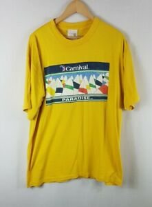 Carnival Paradise T Shirt XXL Size 2XL Vintage Single Stitch 90s Vtg Yellow