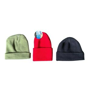 Lot of 3 - Assorted Beanie Hat Various Colors