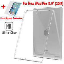 """For New iPad Pro 12.9"""" 2017 Soft Flexible Case Thin Clear Gel TPU Silicone Cover"""
