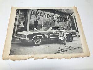 """VINTAGE ORIGINAL MR. NORM'S GRAND-SPAULDING DODGE AUTOGRAPHED HANDOUT 8"""" X 11"""""""