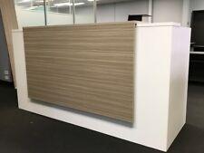 Apex Reception Desk 2100w x 750d Tawny Line Counter Office Furniture