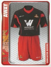 118 AWAY KIT ENGLAND DONCASTER ROVERS STICKER FL CHAMPIONSHIP 2010 PANINI