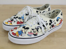 VANS Disney Mickey Mouse Retired 90th Birthday Shoes Women's Size 8 Genuine