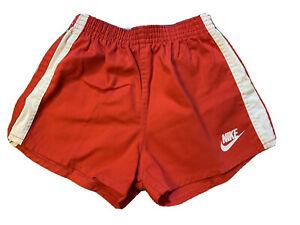 Vintage 70's Nike Red Logo Shorts Boys Size L