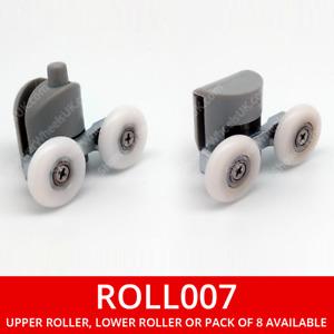 Double Wheel Shower Door Roller   20, 23 or 25mm Runners   Upper or Lower   007