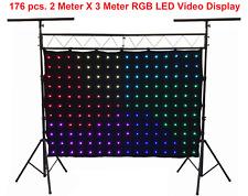 176 pcs Stage LED Video Curtain Screen DJ Backdrop DMX Controller Backdrop 2mX3m