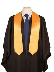 University Graduation Stole (sash) in Satin-  Academic Gown Accessory