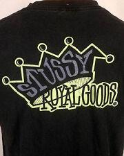 vtg 90s retro Stussy 1993 black label Royal Goods T-Shirt Skate skater dogtown L