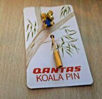 QANTAS AIR airlines Koala Bear Semiprecious Opal Triplet Pin. First Class Rare.