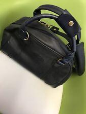 Globe Trotter Women Weekender Bag/ Large ~ Midnight Frosty Blue.