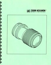 Konica UC Zoom Hexanon AR 45-100mm F3.5 Lens Service & Repair Manual Reprint